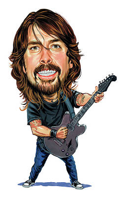 Drummer Painting - Dave Grohl by Art