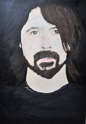 Vulture Mixed Media - Dave Grohl Portrait by Paula Sharlea
