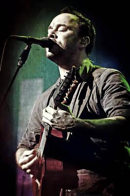 Dave Matthews Live Print by The  Vault - Jennifer Rondinelli Reilly