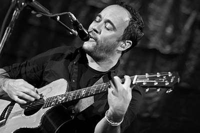 Dave Matthews On Guitar 2 Print by The  Vault - Jennifer Rondinelli Reilly