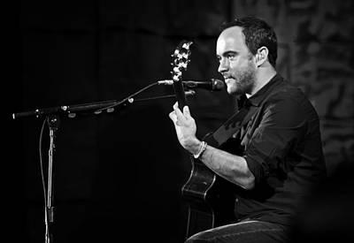 Dave Matthews On Guitar 7 Print by The  Vault - Jennifer Rondinelli Reilly