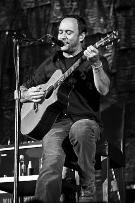 Dave Matthews On Guitar 9  Print by Jennifer Rondinelli Reilly - Fine Art Photography