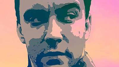 The Dave Matthews Band Digital Art - Dave Matthews Portrait Poster by Dan Sproul