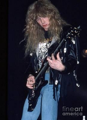 Megadeth Photograph - Dave Mustaine by David Plastik
