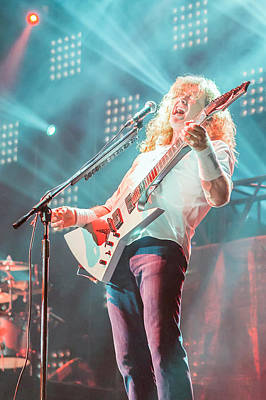 Megadeth Photograph - Dave Mustaine Live 2012 by Lidia Sharapova