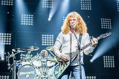 Megadeth Photograph - Dave Mustaine Live In Moscow 2012 by Lidia Sharapova