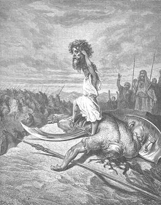 Dore Painting - David And Goliath by Celestial Images