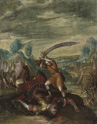 Beheading Painting - David Beheading Goliath by Celestial Images
