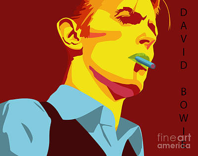 Singer Digital Art - David Bowie by Patrick Collins