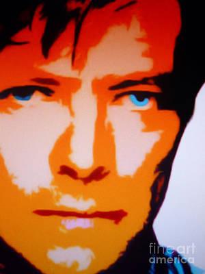 Jamaican Art Painting - David Bowie by Ryszard Sleczka