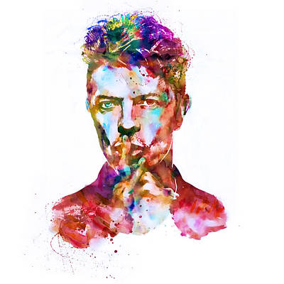 David Bowie Watercolor Print by Marian Voicu