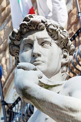David, By Michelangelo, Palazzo Print by Nico Tondini