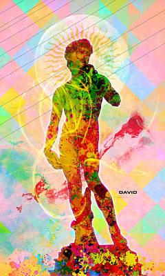 Colorful Abstract Digital Art - David by Gary Grayson