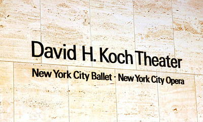 Lincoln Center Photograph - David H. Koch Theater by Valentino Visentini