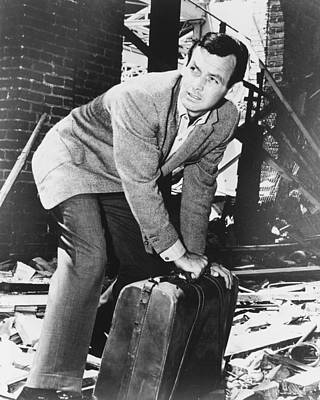 David Janssen In The Fugitive Print by Silver Screen