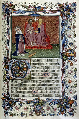 David Kneeling Before The Trinity Print by Granger
