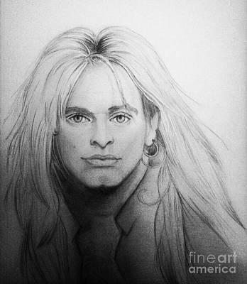 Van Halen Drawing - David Lee Roth by Manon Zemanek
