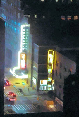 David Letterman Show Theater On Broadway E5 Print by Bud Anderson