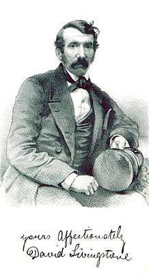 David Livingstone, Scottish Explorer Print by British Library