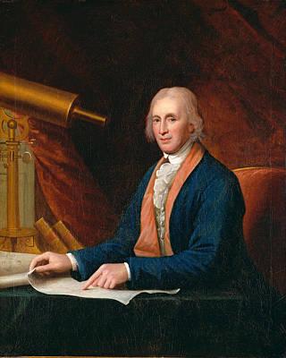 Charles Willson Peale Painting - David Rittenhouse by Charles Willson Peale
