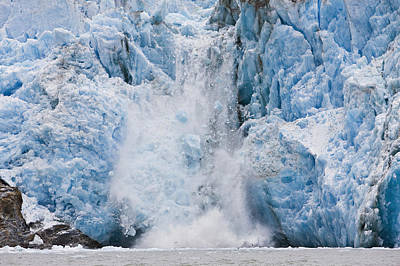 Alaska Photograph - Dawes Glacier Calves Into The Endicott by Ray Bulson