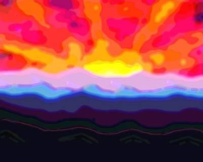 A Sunny Morning Digital Art - Dawn 14 by L Brown