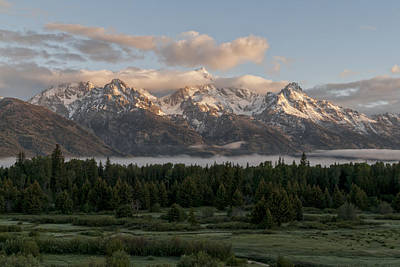Dawn At Grand Teton National Park Print by Brian Harig