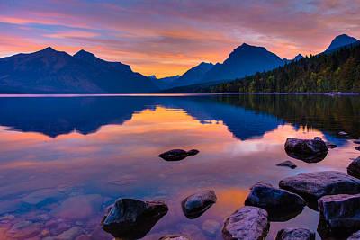 Dawn At Lake Mcdonald Print by Adam Mateo Fierro