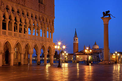Piazza San Marco Photograph - Dawn At The Ducal Palace Near Piazza by Brian Jannsen