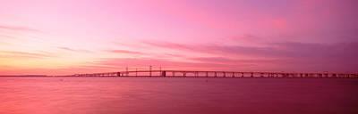 Chesapeake Bay Photograph - Dawn, Chesapeake Bay Bridge, Maryland by Panoramic Images
