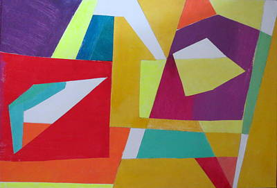 Mixed Media - Abstract Angles Vii by Diane Fine