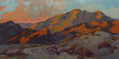 Walking Path Painting - Dawn In La Quinta Cove by Diane McClary