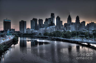 Dawn In Philly Print by Mark Ayzenberg