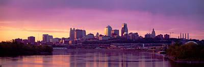 Rainy Day Photograph - Dawn Kansas City Mo by Panoramic Images