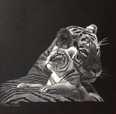 Scratchboard Painting - Dawn Of Hope by Betsy Frahm
