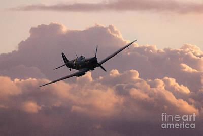 Dawn Of The Spitfire  Print by J Biggadike