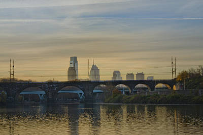 Dawn On The Schuylkill River Print by Bill Cannon