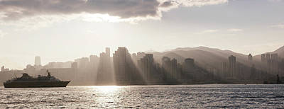 Dawn Over Central Business District Print by Panoramic Images