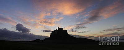 Lindisfarne Photograph - Dawn Over The Castle by Tim Gainey