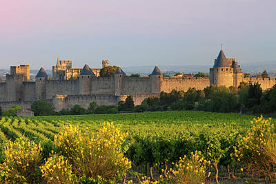 Languedoc Photograph - Dawn Overlooking The Medieval Village by Brian Jannsen