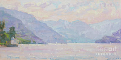 Lake Como Painting - Day After Day by Jerry Fresia