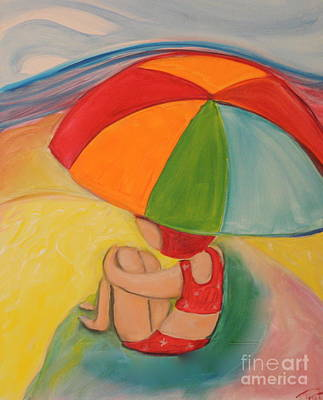 Painting - Day At The Beach by Teresa Hutto