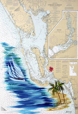 Chart Painting - Day Dreaming by Christine Baeza