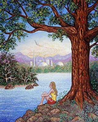 Tree Painting - Day Dreams by Linda Mears