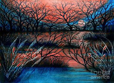Day Is Done October Sky Print by Janine Riley