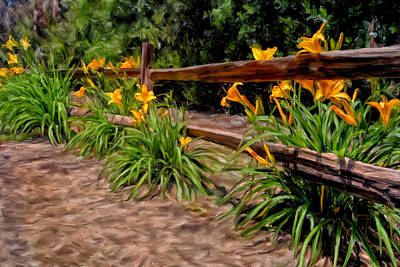 Day Lilies Print by Michael Pickett