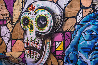 Universal Art Mixed Media - Day Of The Dead Mural by Terry Rowe