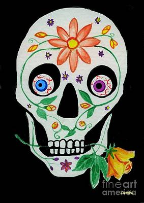 Painting - Day Of The Dead Skull 1 by Lori Ziemba
