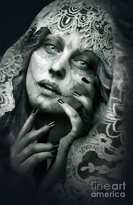 Madonna Digital Art - Day Of The Dead by Victoria Bella-Morte