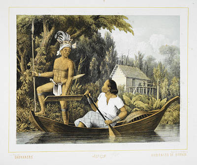 Body Paint Photograph - Dayaks by British Library
